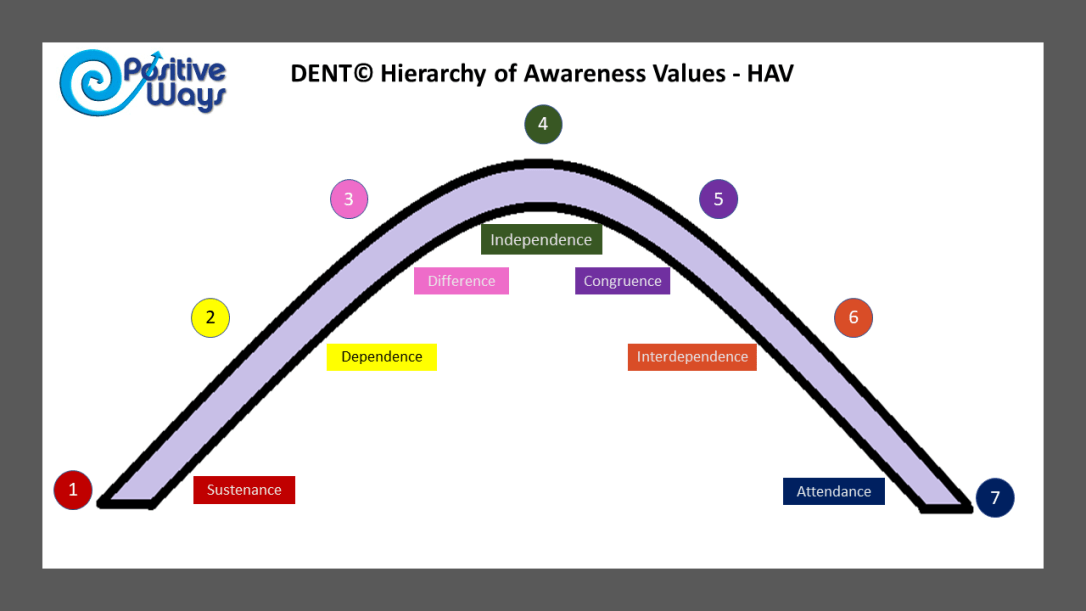 DENT hierarchy of Awareness Values