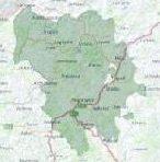 Μικρογραφία του χάρτη της περιοχής παρέμβασης όπως έχει διαμορφωθεί σήμερα.
