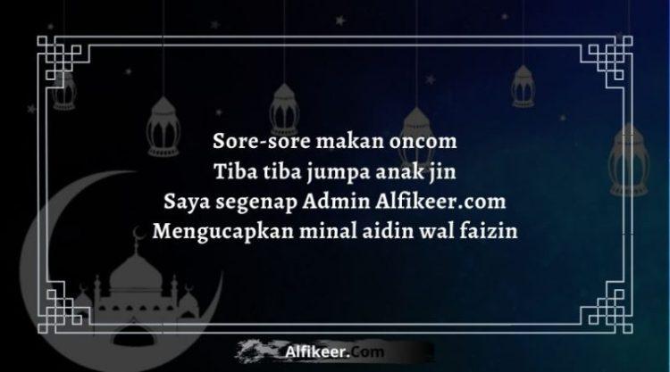 Pantun Lebaran Idul Fitri