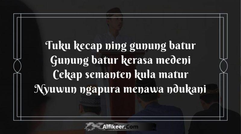 Pantun Lucu Penutup Pidato Bahasa Jawa