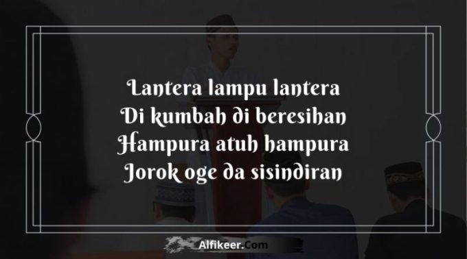 Pantun Penutup Pidato Bahasa Sunda lucu