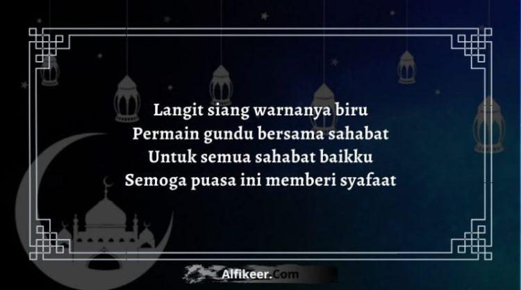 Pantun Bulan Ramadhan Untuk Sahabat