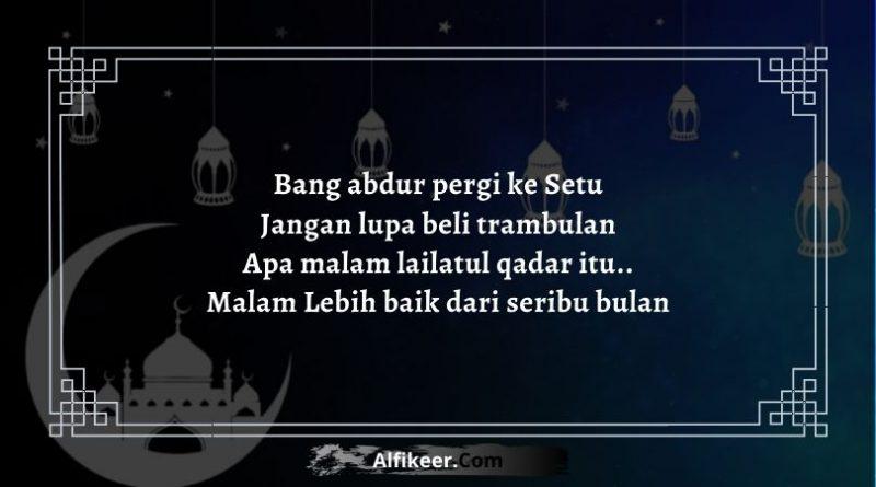 Pantun Malam Lailatul Qadar Ramadhan