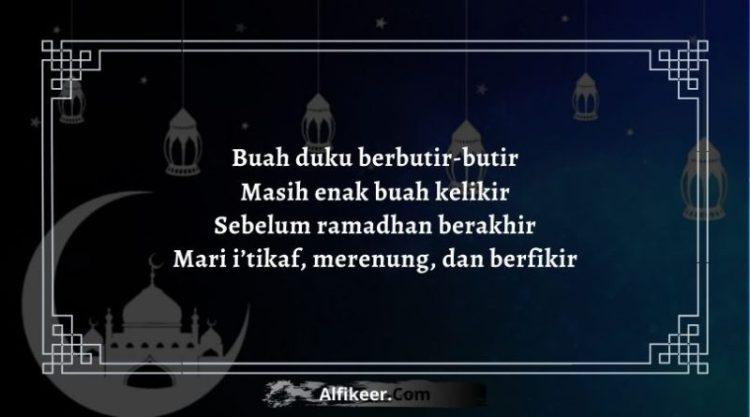 Pantun Akhir Bulan Ramadhan