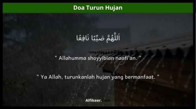 doa turun hujan
