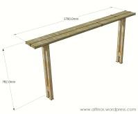 free easy sofa table plans | woodideas
