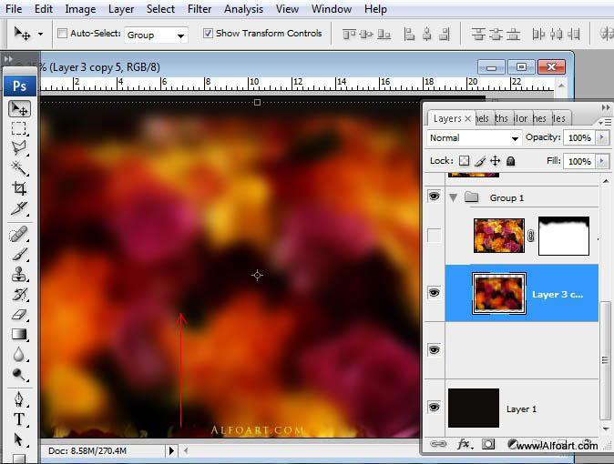 Đẹp kỹ thuật số Hoa hồng bó hoa giật gân hiệu lực trong Photoshop