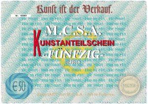 Kunstaktie-Euro