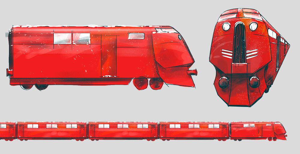 Concepts Trenes Felicitación Navidad Pikolin