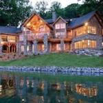 Night time luxury home