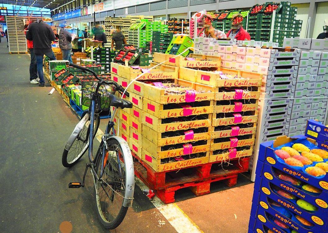MIN de Rungis, vélo pavillon des fruits et légumes