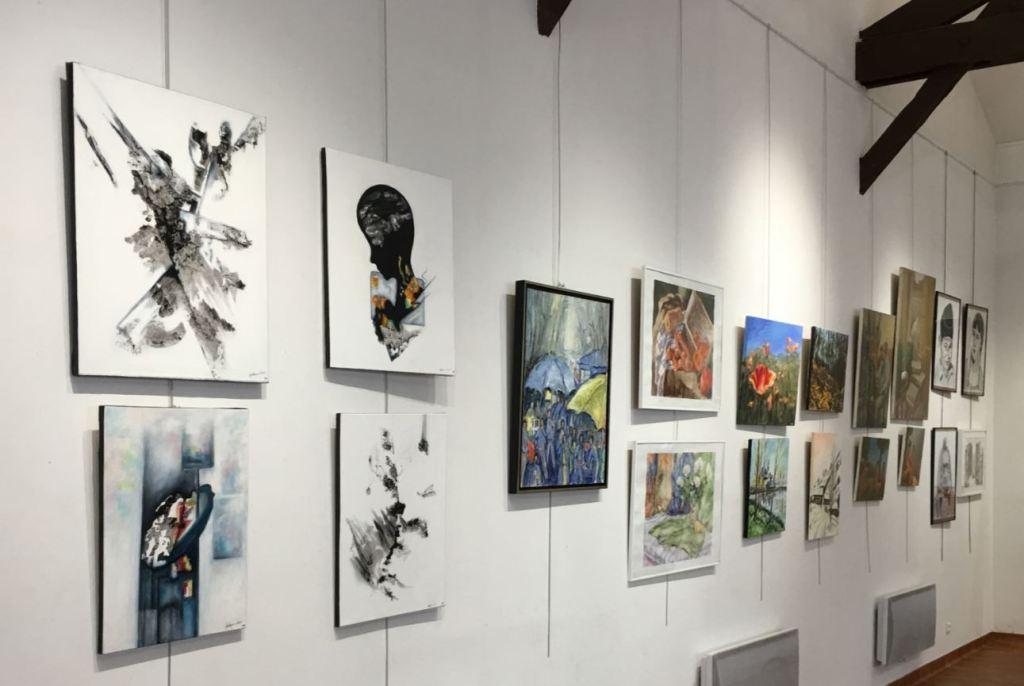 Alfortville exposition tableaux des artistes de l'association la 4 A
