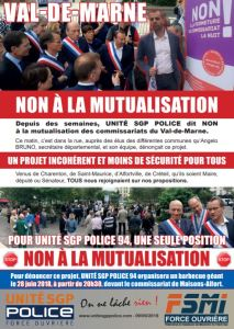 Tract syndicat Police SGP contre la mutualisation des commissariats