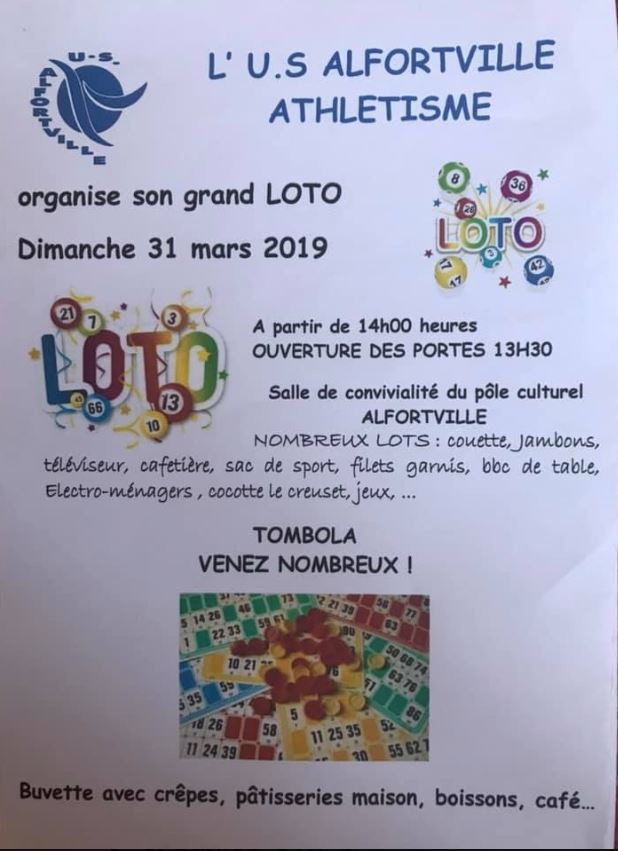 Alfortville LOTO Us Athlétisme dimanche 31 mars 2019