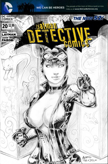 Catwoman girl who drew cats Alfred Trujillo