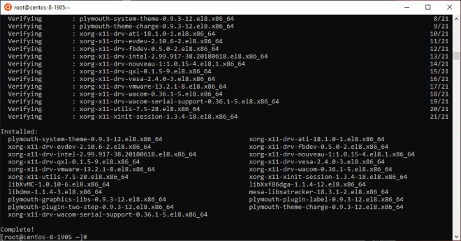 yum --repo=c8-media-AppStream -y groupinstall base-x