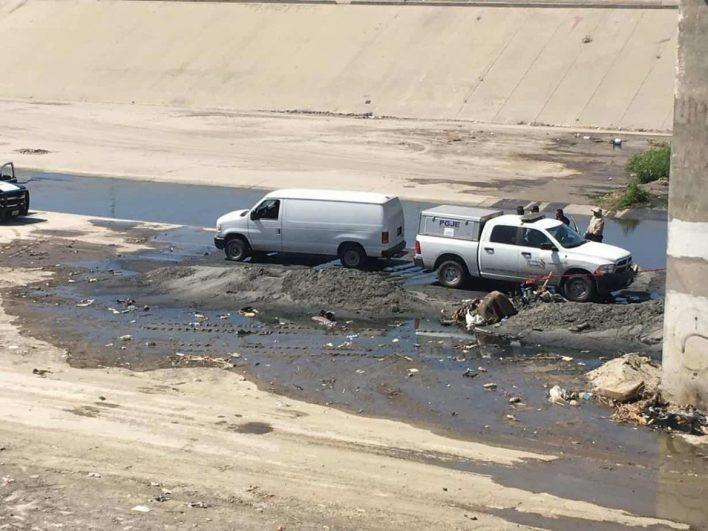 Hallan restos humanos en la canalización del Río Tijuana