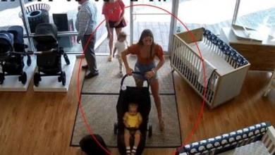 Photo of [VIDEO] Mujer roba carriola pero olvida a su hijo en la tienda