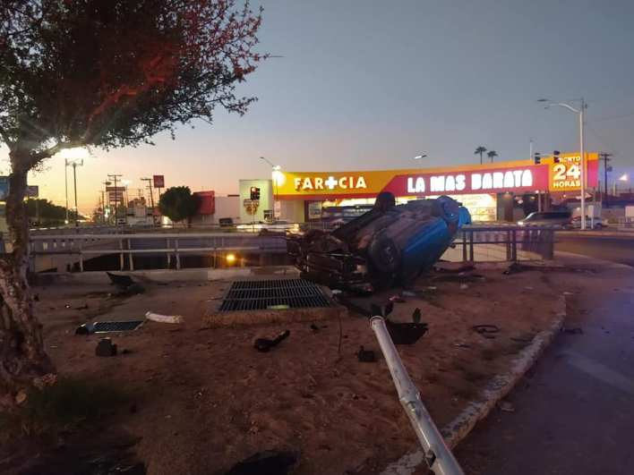 ebrio provoca fuerte accidente