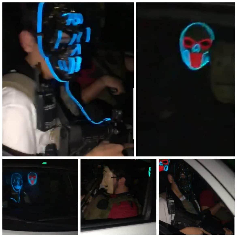 Difunden video de enmascarados armados celebrando