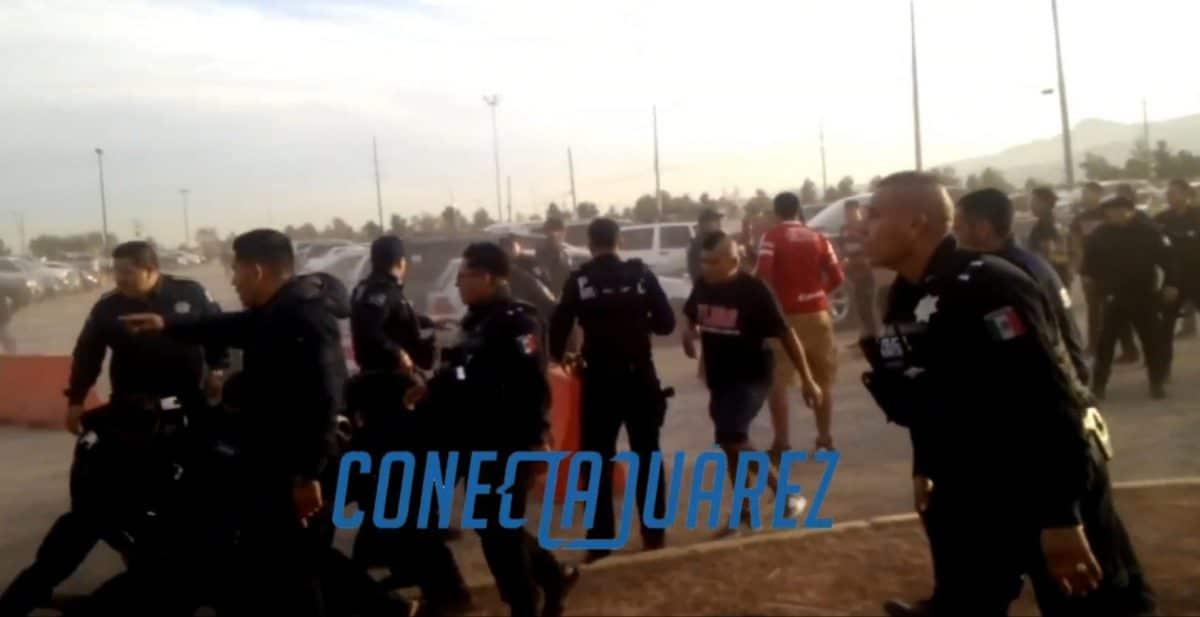 Guerra campal entre porras de Tijuana y Juárez