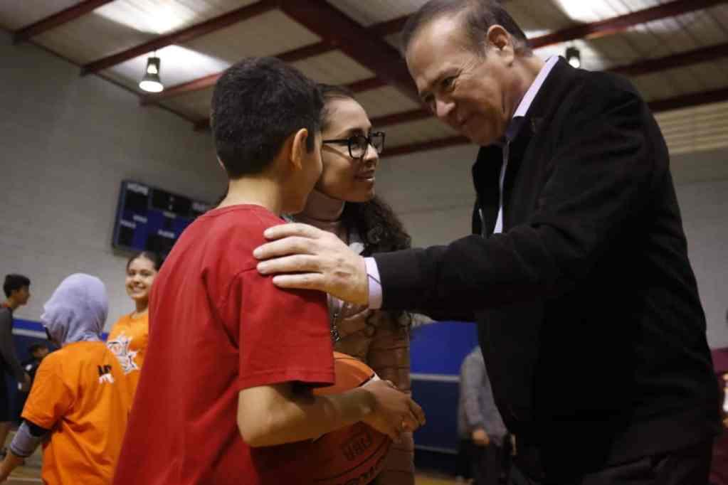 Presidente con niños