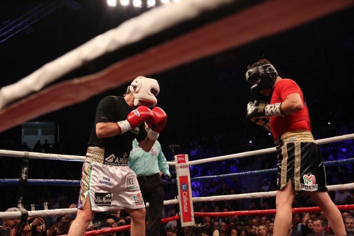 Exhibición de boxeo