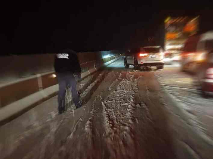 paso cerrado en la carretera Tijuana a Mexicali por nieve