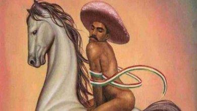Photo of Protestan en Bellas Artes por pintura de Zapata femenino