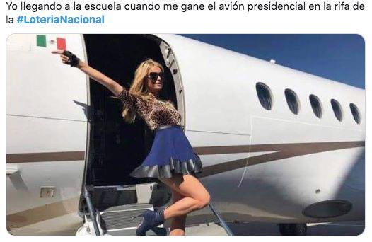 Los memes por la rifa del avión presidencial