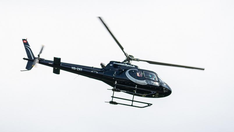 Lanzan cordero desde un helicóptero a una piscina por diversión