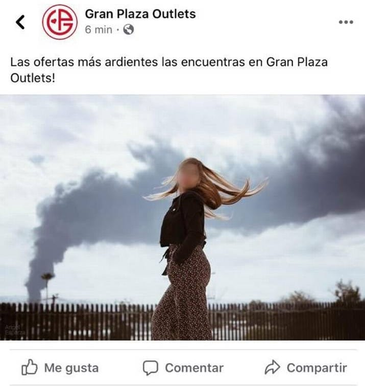 'Mall' se burla de incendio en Mexicali