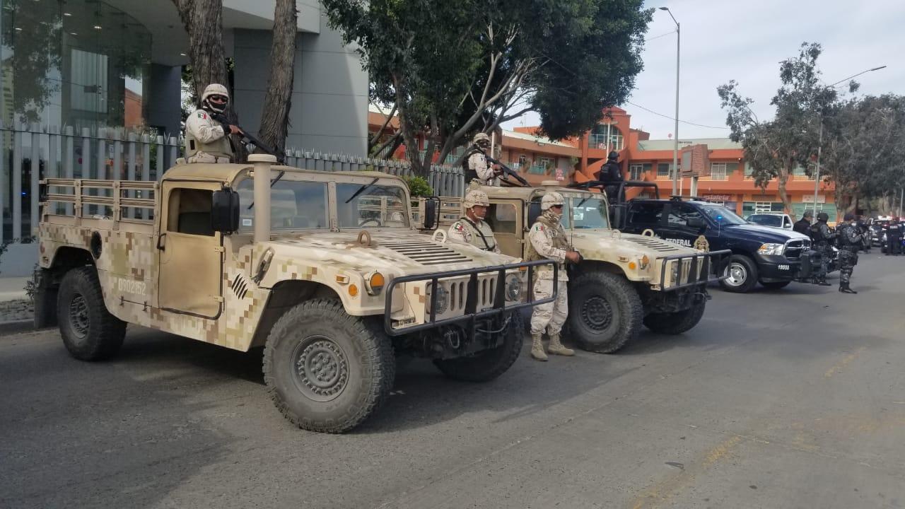Operativo policíaco militar por traslado de 'Chapito' Leal