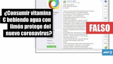 Consumir vitamina C con limón NO previene el coronavirus