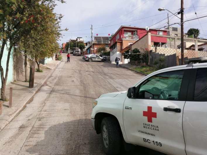 Escena del crimen en Camino Verde, Tijuana.