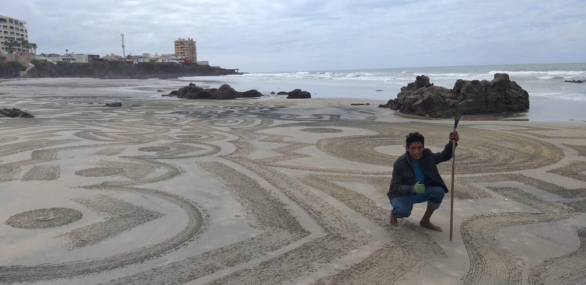 No eran 'mensajes de las estrellas', las figuras en las playas |
