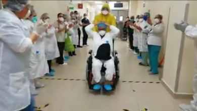 Photo of VIDEO: Así despiden a paciente que libró el Covid-19 en el HGT