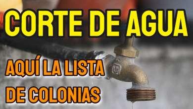 Photo of ATENCIÓN: Colonias se quedarán sin agua hoy
