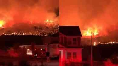 Photo of VIDEO: Evacúan a decenas de familias tras fuertes incendios