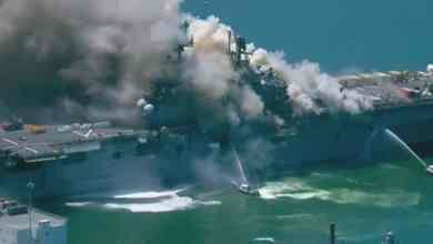 Photo of VIDEO: Explosión en barco militar de San Diego; hay varios heridos