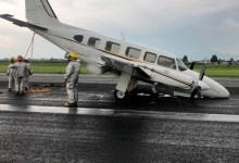 Photo of Aterriza de emergencia aeronave privada