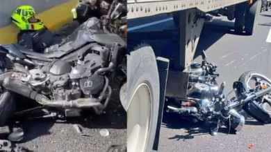 VIDEO-Mueren-motociclistas-tras-chocar-contra-tráiler