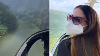 VIDEO-Separan-a-funcionario-del-IMSS-esposa-presume- viaje-en-helicóptero