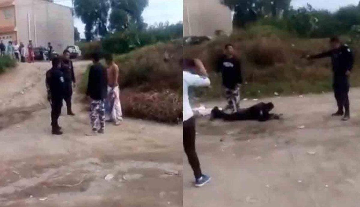 VIDEO-Policía-mata-a-civil-vecinos-queman-patrullas