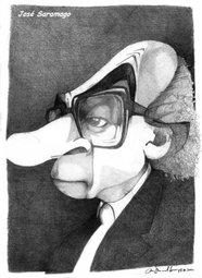 José Saramago, por Rui Rodrigues de Sousa (Desenhos do Rui)