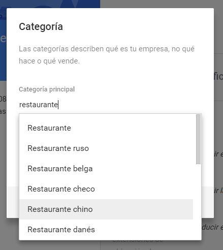 Cómo cambiar una categoría de negocios en Google My Business / Maps