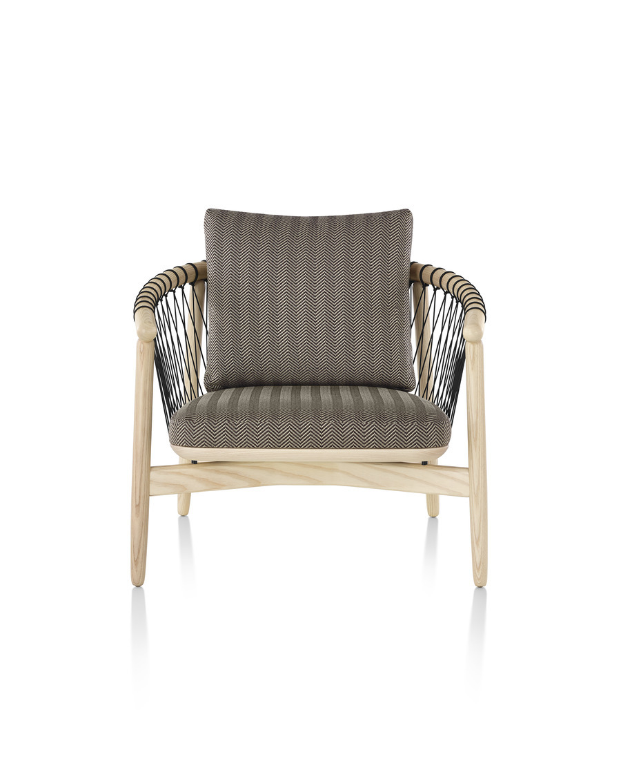 Crosshatch Chair and Ottoman  Alfred Williams  Company