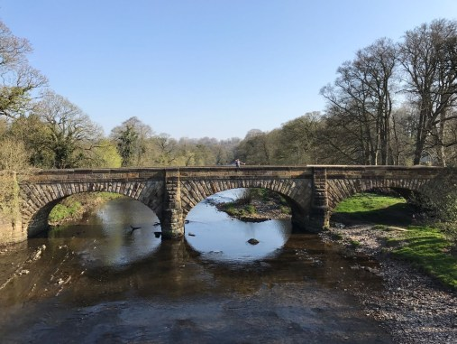 The view of Lower HodderBridge fro Cromwell's Bridge