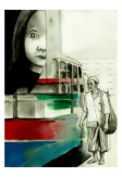 Pulang (Going Home) by Alf Sukatmo. Watercolor, graphite on paper.