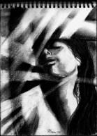 """Siesta"" Alf Sukatmo. Charcoal on watercolor paper. 2014"